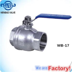 Wog manuale filettato femmina 1000 della valvola a sfera dell'acciaio inossidabile 2PC