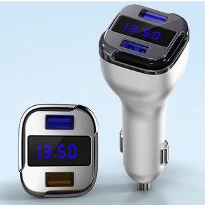5Un LED doble USB Cargador de coche QC 2.0 rápido coche USB CARGADOR