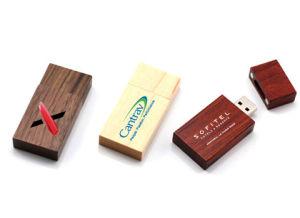 Микро хранения древесины флэш-накопитель USB с логотипом, печати, складная