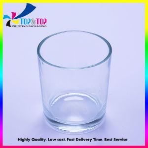 カスタム円形および正方形の透過ガラス蝋燭の瓶