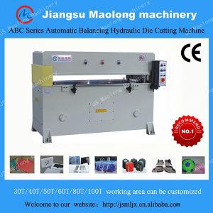 Amostra de tecido Four-Column precisas semiautomático Die Prensa Hidráulica máquina de corte de couro / Pressão de Corte