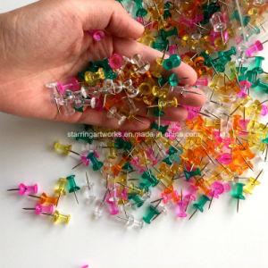 ハンドルの形のオフィスのためのプラスチックヘッドマップのマーキングPinの親指鋲押しピン