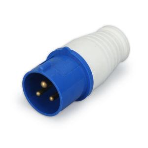 32 A 2P+E 110V 220V IP44 3p de couleur bleu Bouchon industriel mâle 023