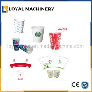 Automatisches Rollenstempelschneidene und faltende Maschine für Cup