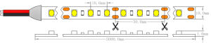 Epistar 2835 CRI regulable de 12V90 de iluminación LED DE TIRA