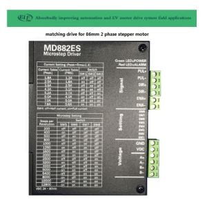 86mm 2 fase motor de pasos de 3.5nm híbrido