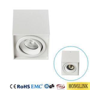 Justierbare GU10 Downlight Deckenleuchte LED Oberfläche eingehangenes Downlight des Zylinder-LED