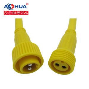 2 Pin M23 LEDの屋外ケーブルの防水コネクター