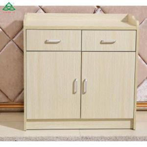 2019 Novo hotel design de móveis Sala de Chá de madeira armário com gavetas lateral de armazenamento