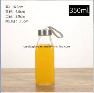 Glasgetränkeflasche des wasser-300ml mit Edelstahl-Schutzkappe