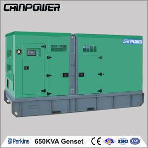 650kVA 520kw 50Hz tipo silenciosa gerador a diesel equipado com motor Perkins (2806A-E18TAG2)