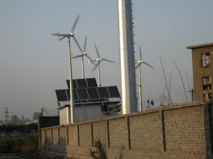 Светодиодная лампа с ветровой турбины гибридной системой