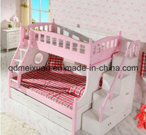 Kind-Möbel-Doppelt-Kind-Bett-Mädchen-oberes und untereres Bett-festes Holz-Strichleiter-Höhen-Peitsche-Bett-Archen-Rosa-Bett (M-X3312)