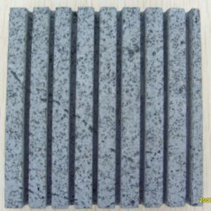 溝が付いているG654灰色の砥石で研がれたか、または炎にあてられた花こう岩の床タイル