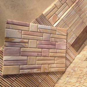 La Chine Chimfer de grès naturel de panneaux muraux extérieurs (SMC-SCP461)