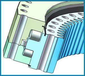 Tres hileras de anillo de rotación de rodillo con la norma ISO 9001
