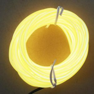 Желтый провод светящихся EL кабель габаритного освещения в 5м, 10 м, 50 м, 100 м