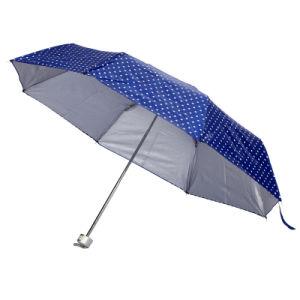 マニュアルの開いた銀製のコーティングの印刷のフォールドの傘(JY-248)