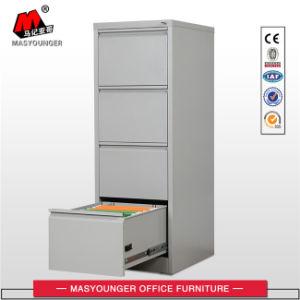 Mobiliário de metal do Office 4 gavetas de aço armário de arquivos de armazenamento vertical