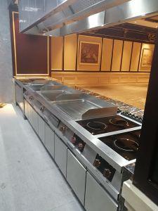 Appareil de cuisine gaz Plaque Griddle (rainuré avec four