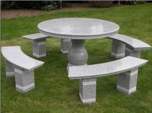 花こう岩の家具の屋外の石造りのテーブルおよびベンチ(OH-GT-50)