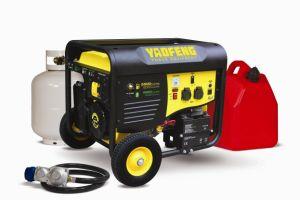EPA、Carbのセリウム、Soncap Certificate (YFGP6500DE2)のElectric 5000ワットのPower GasolineおよびLPG Generator