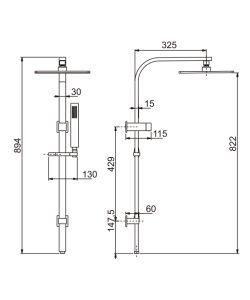 Australien-Standardmessingdusche-Set mit '' Hauptdusche 10 (D10216YC)