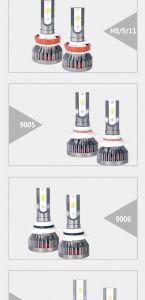 Tres colores Mini 28W, IP68, Felipe, mazorca, chips de Zes H1, H4, H7, H8, 9006, 9005, 9007 Faro de LED para autos