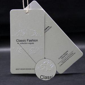China barata papel reciclado/diseño de etiquetas de Prendas de Vestir Las etiquetas de colgar en Guangzhou