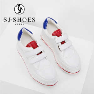 Ss1327 fabriqués en Chine Le commerce de gros de patiner sur des chaussures en cuir blanc Mesdames occasionnel