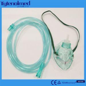 Máscara de oxigénio de PVC Medical-Grade descartáveis com certificado CE