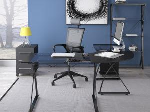 Acier noir moderne temperedglass et ordinateur de bureau u2013acier noir