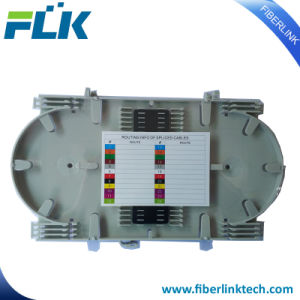 24-48/núcleos de los componentes de fibra óptica de la fusión de la bandeja de empalme Caja con tapa transparente/