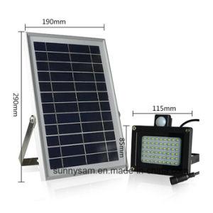 アップグレードされた太陽洪水ライト54 LED多緩和されたガラスのパネルの太陽洪水ライト