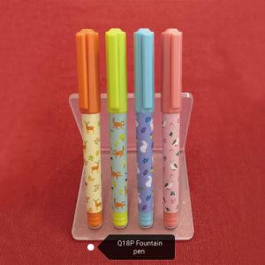Bolígrafo de tinta libre Q18 ODM de la Escuela de Fabricación y suministros de oficina