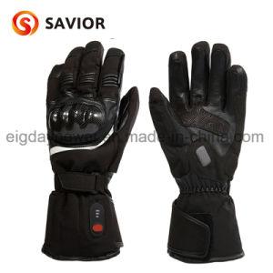 De in het groot het Skien van de Winter Navulbare Batterij Verwarmde Handschoenen van het Leer van de Motorfiets