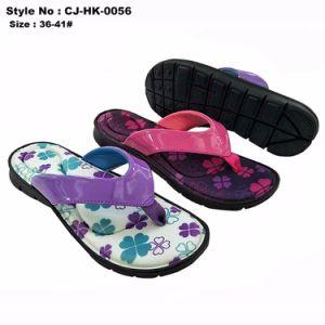 Mode Femmes EVA Flip Flops avec semelle intérieure Funky fleur de l'impression