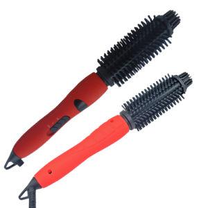 Spazzola di capelli di ceramica del Ce di RoHS del cETL di approvazione LED di temperatura registrabile all'ingrosso dell'indicatore per l'arricciatura (A8128)