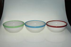 ブラシをかけられたバンド陶磁器ボール12 1/2 Oz。 -5 5/8