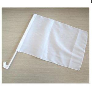 Coloque papel branco de poliéster durável em branco na janela do carro personalizado pavilhão com o Pólo de plástico