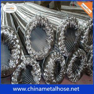 SS Metal flexibler Schlauch-gewellten Schlauch mit Flechten-Schicht