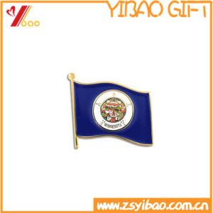 고무 클러치 (YB-LY-B-10)를 가진 주문 단단한 사기질 금 Pin