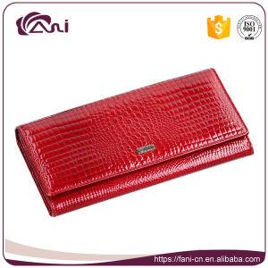 [فني] زيّن نساء تمساح جلد محفظة, محفظة أحمر [جنوين لثر]