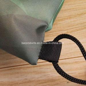 2018 Form preiswerter kundenspezifischer grüner Polyster Drawstring-Beutel