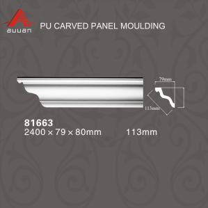 81666 Decoration Material Corniche Moulure de trame de miroir en polyuréthane
