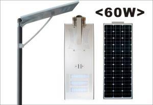 60W Todo-en-uno solar Calle luz LED con Sensor de movimiento PIR