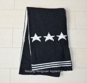 快適な100%のアクリルの冬のスカーフによって編まれるスカーフ(HY15054)