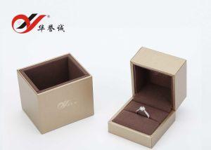 لون ذهبيّة بلاستيكيّة [جولري بوإكس] /Wedding حلقة صندوق /Jewellery [جفت بوإكس]