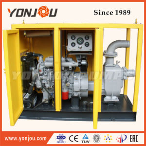 4'', Tráiler Non-Clogging las aguas residuales Bomba con motor Diesel