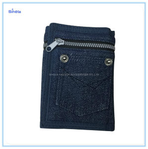 Design de denim zíper de Nylon Cowboy Bonitinha Populares Venda Wallet